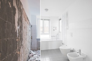 before and after bathroom refurbishment